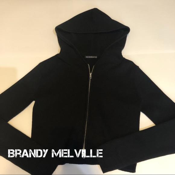 Brandy Melville Zip Sweater Hoodie